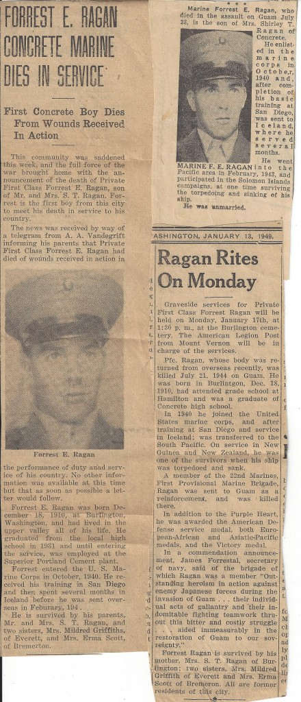Forrest Ragan Newspaper Clippings