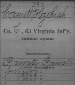 U.S., Confederate Soldiers Compiled Service Records, 1861-1865