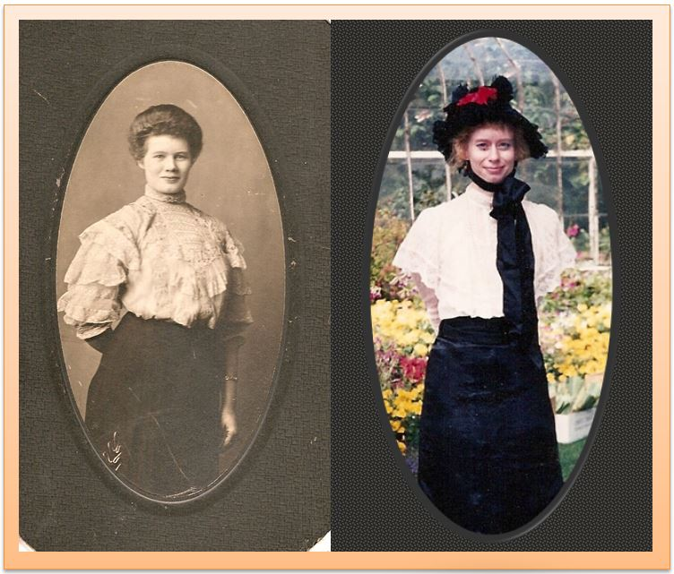My Grandma, Marie Reimers Kelley, and me.