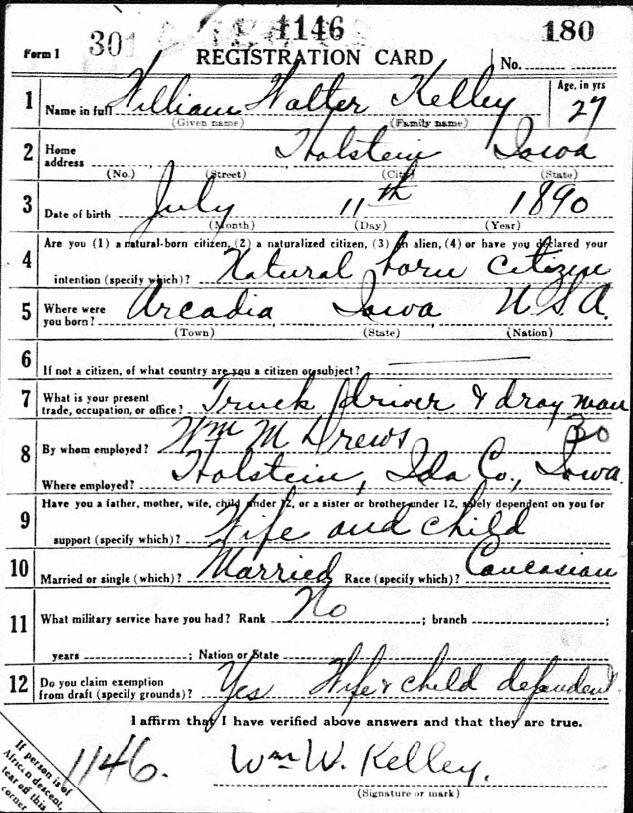 Tall, Medium build, Eyes: brown, Hair: light brown, Bald: Slightly; June 5th 1919