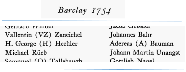 J. Georg's father, H. Georg, in an excerpt from the passenger list from the Barclay.
